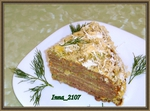 Печеночный торт  с сырно -кефирным кремом
