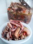 Замаринованные  осьминоги,устрицы,креветки,кальмары.,гребешки . Вариант.